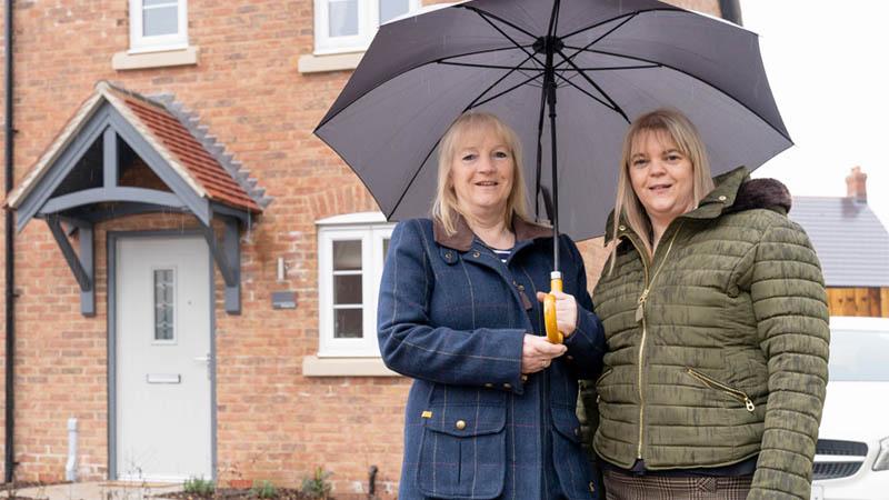 Elaine and Laura at Bridgeways