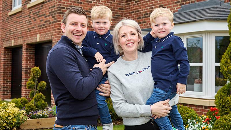 The Bennett family at home at Milby Grange