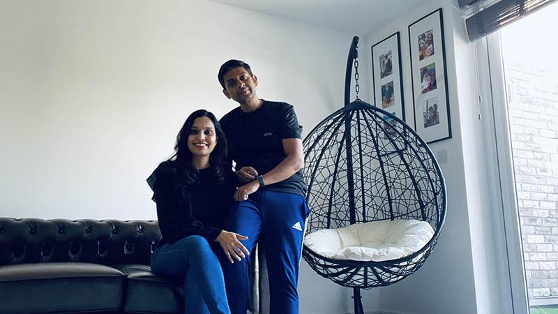 Priyanku and Rashmi at home at Aspyre