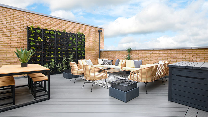 A terrace at The Courtyard (Barratt Homes)