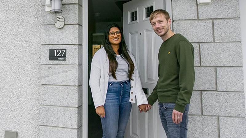 Kishani and Alex at home at Riverside Quarter