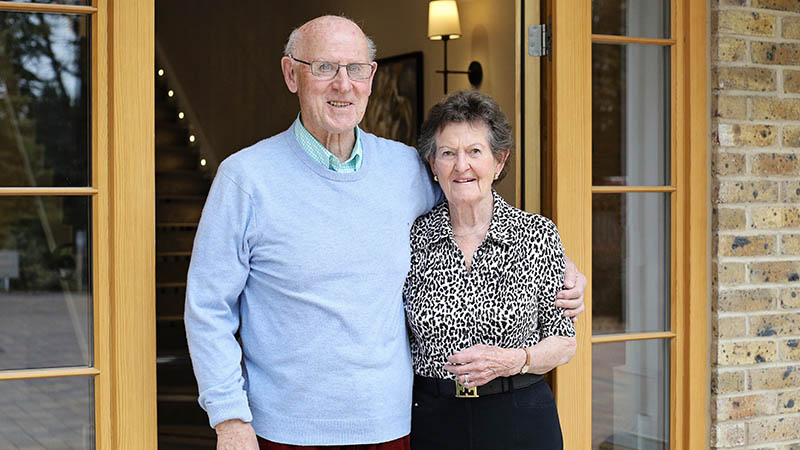 Brian and Sally at home at Wintersbrooke