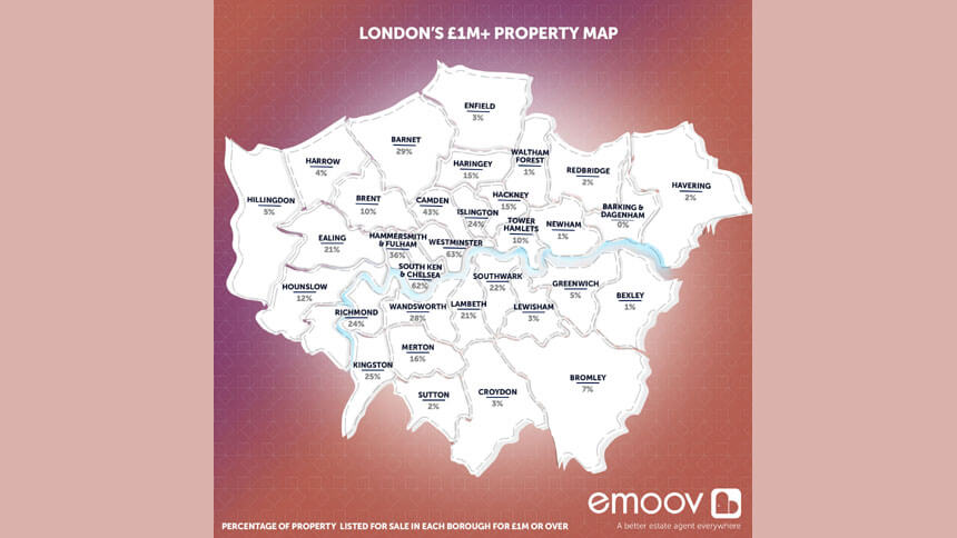 London property price map
