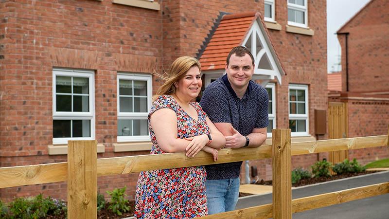 Emma and Gavin at home at Grange View