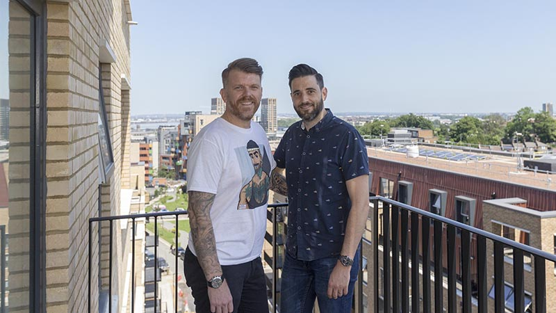 Paul and Pedro at home at Trinity Walk