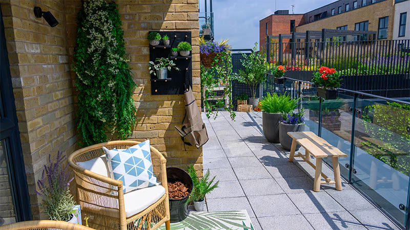 Gardening balcony package at The Paperyard
