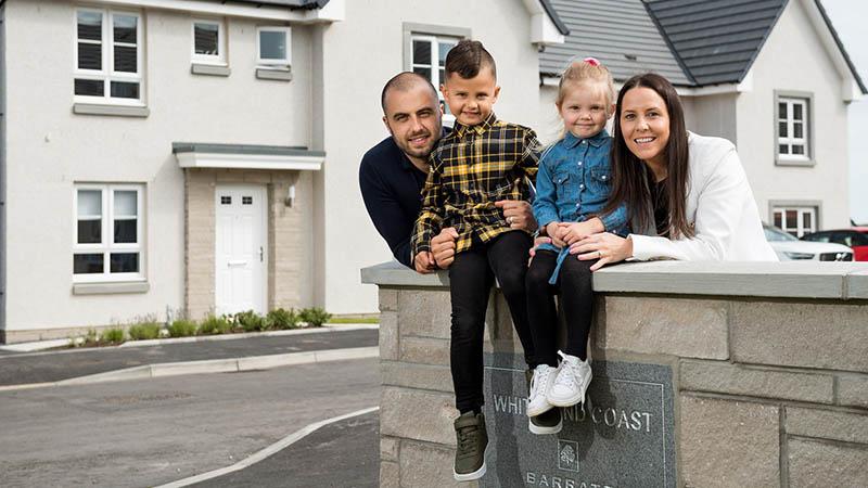 The Sangbarani family at home at Whiteland Coast