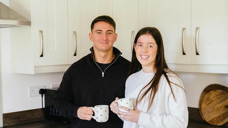 Jack and Laura at home at Canford Paddock