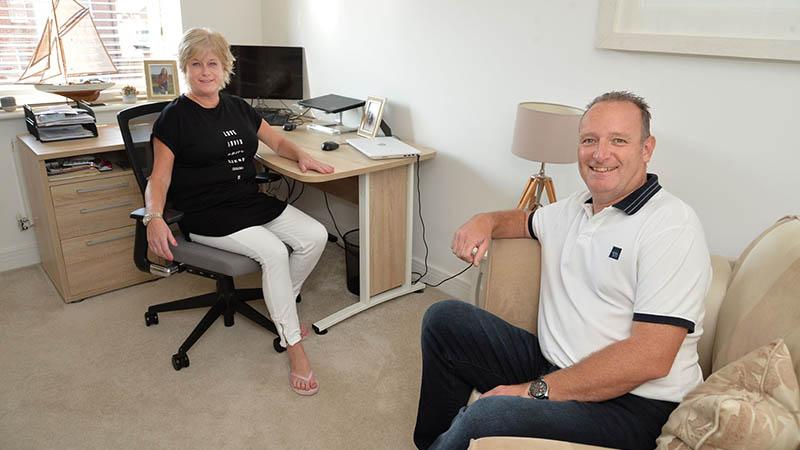 Joanne and Gary at home at Picklenash Grove