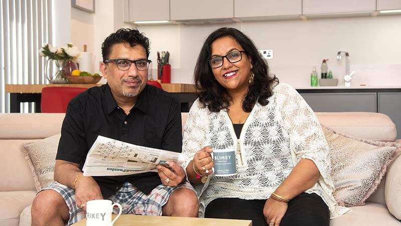 Indika and Roopa at home at Wandsworth Exchange