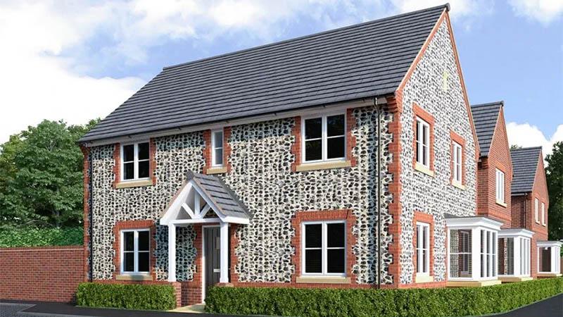 'Shenstone' house type at Bracklesham Grove