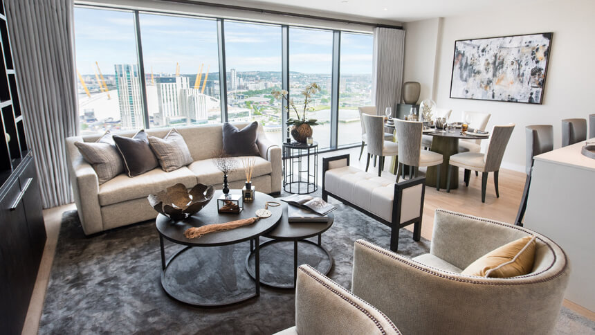 show homes living rooms show home room by room horizons canary wharf 17390
