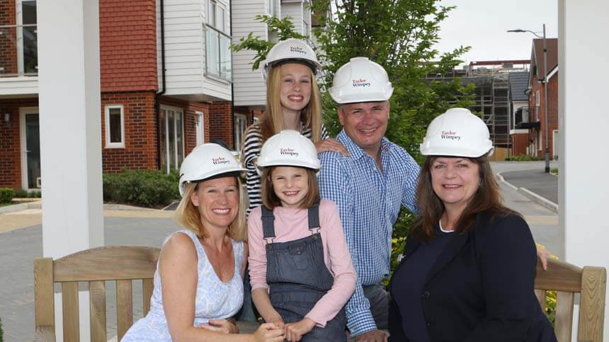 The family at Meridian Square (Taylor Wimpey)