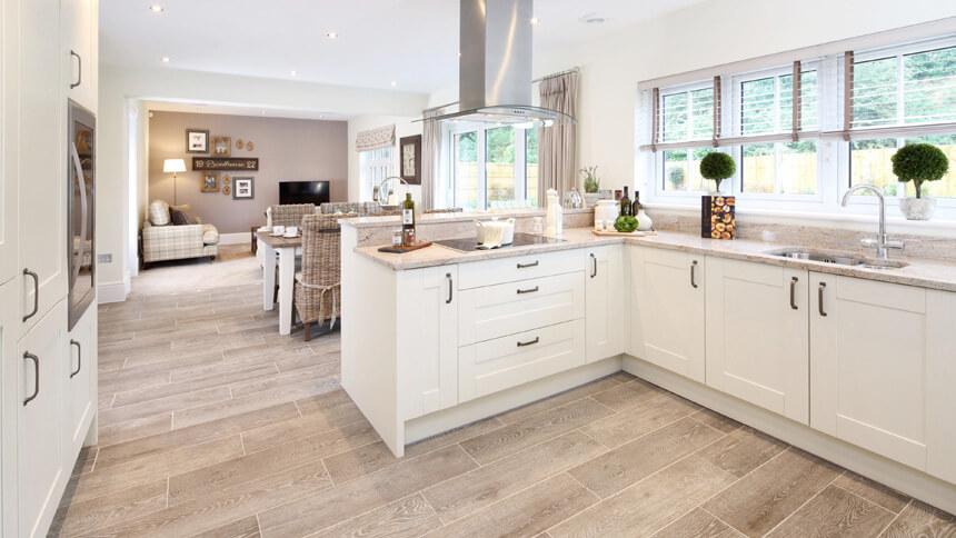 The Highgrove open-plan kitchen area