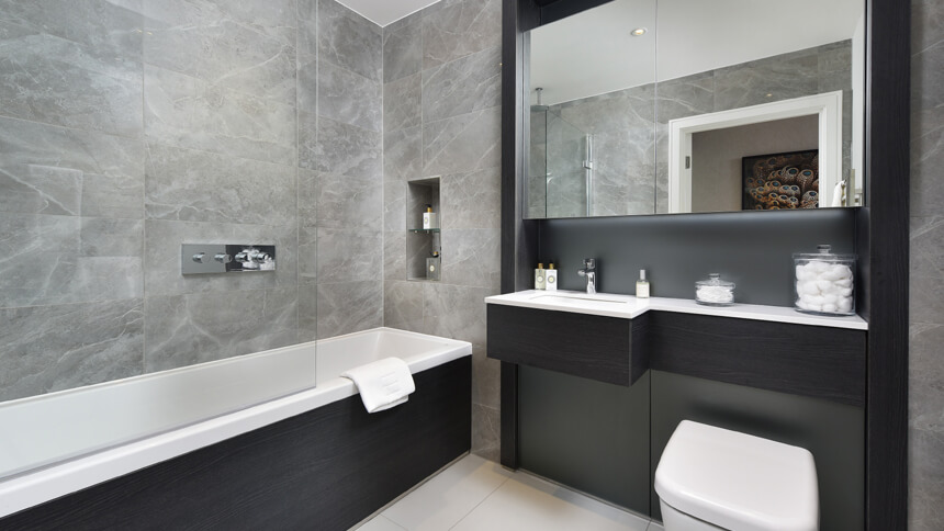 Hotel-style bathrooms and underfloor heating