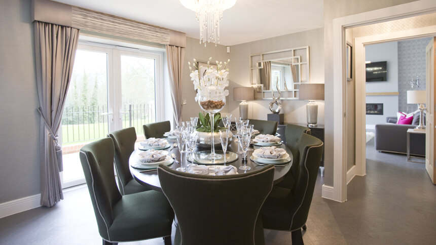 Chartwell show home dining room