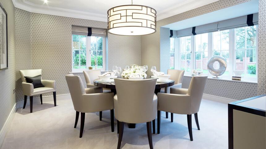 Hamilton Place formal dining room (Millgate)