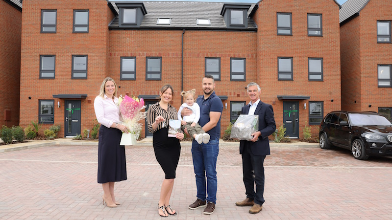The first residents at Linmere from Barratt Homes