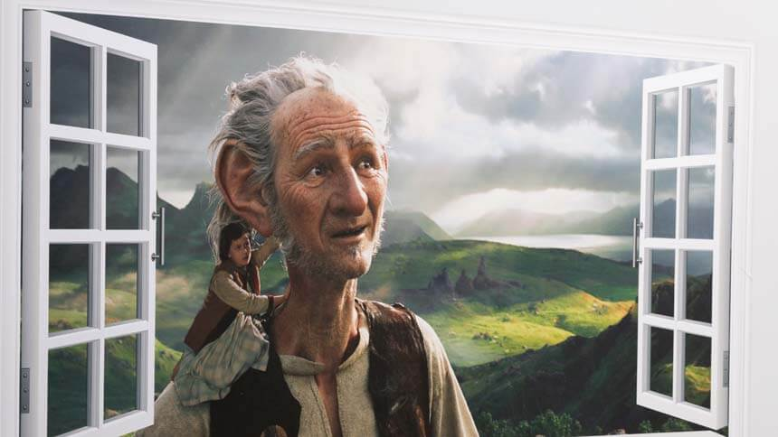BFG themed room canvas (Weston Homes)