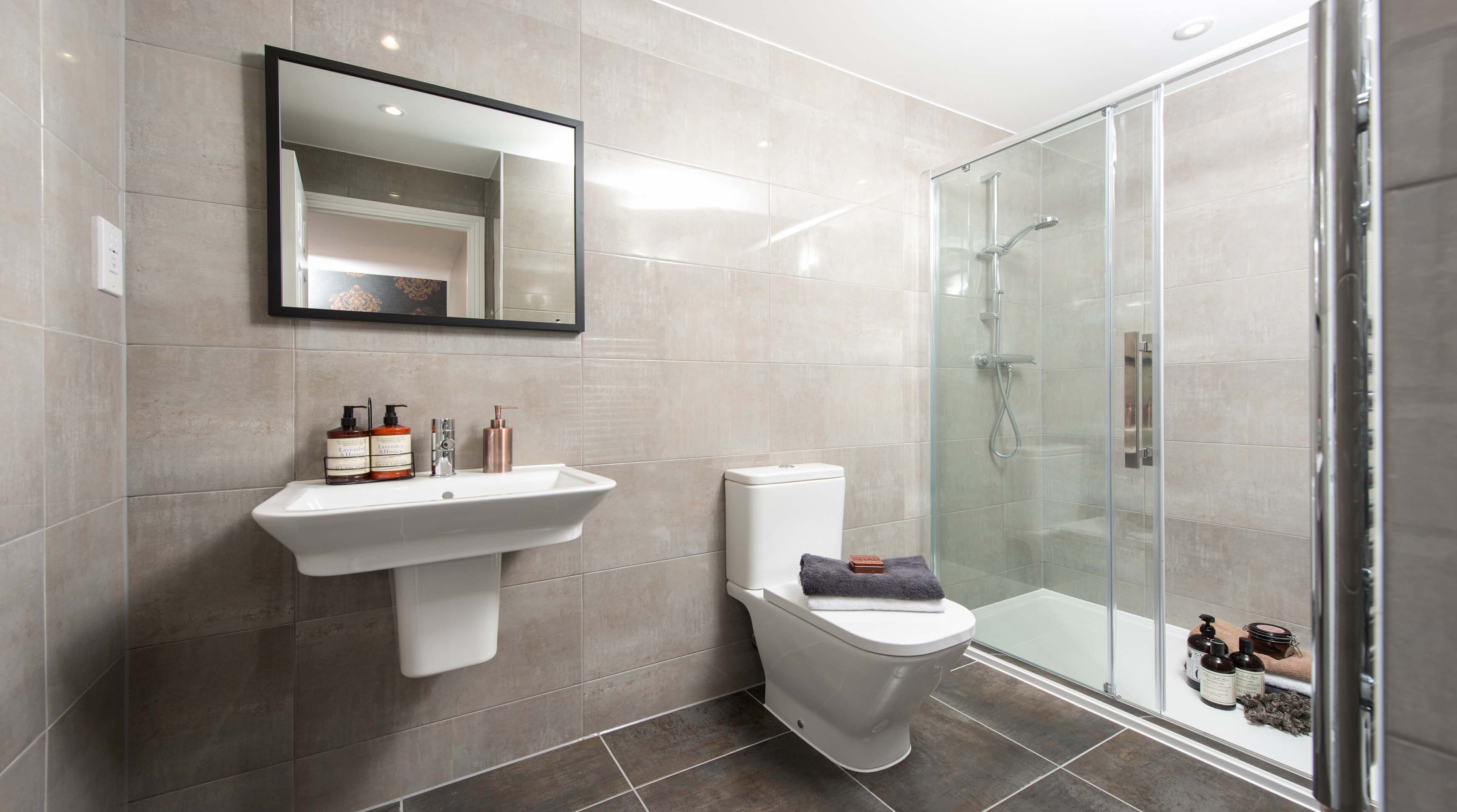 Show home room by room lime tree court ampthill for Show home bathrooms