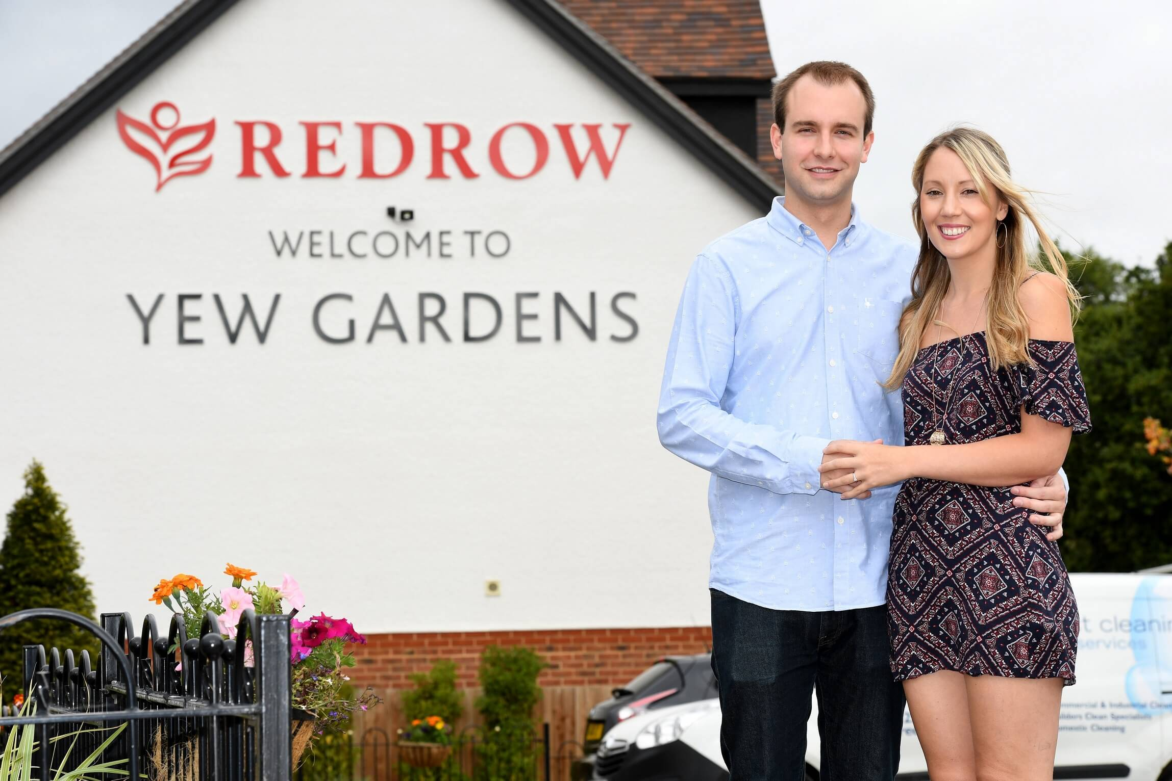 Ben and Jade at their new Redrow home
