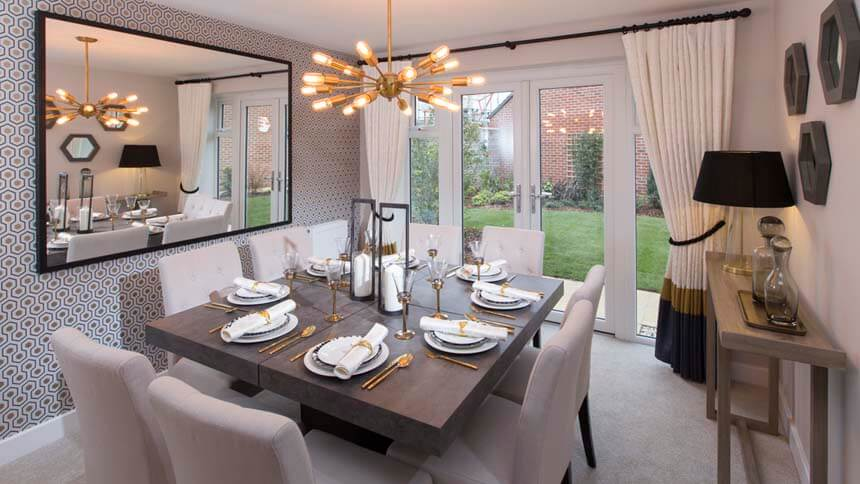 show home dining room | Show home room by room - The Buckingham, Bertone Manor