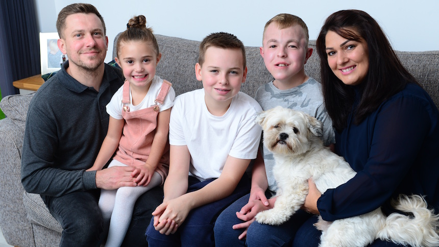 Andrew, Sophie and their family
