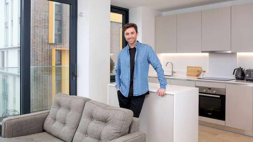 Samuel has purchased through Shared Ownership