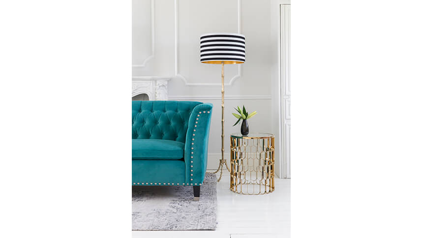 Circus black and white stripe floor lamp