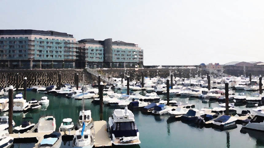 Artist's impression of the new Edinburgh Marina