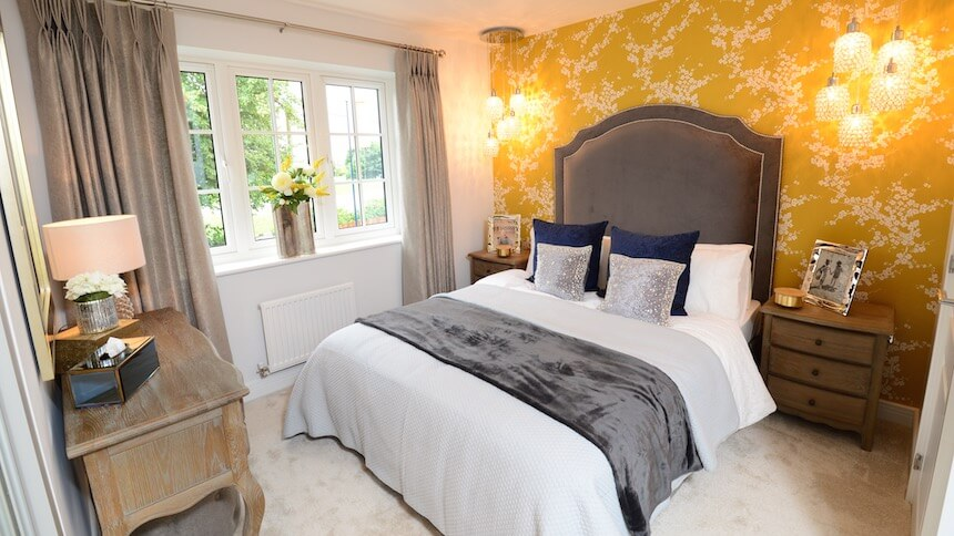 The Master Bedroom At The Fernwood Show Home