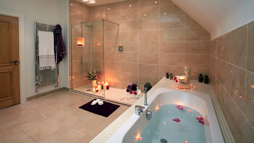 The Harrogate show home bathroom