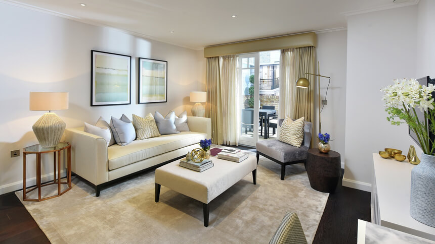 Hurlingham Walk living room (St James)