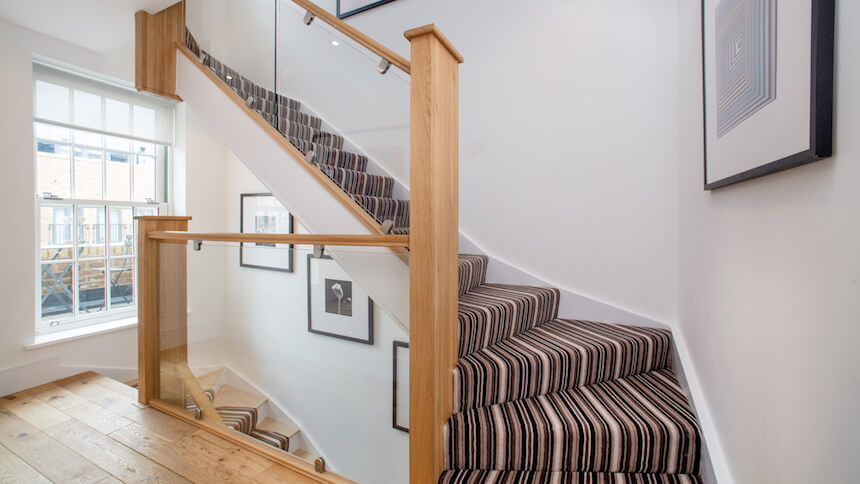 Hallway at St Agnes Place show home