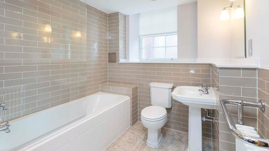Show home room by room hampton grange bromley for Show home bathrooms