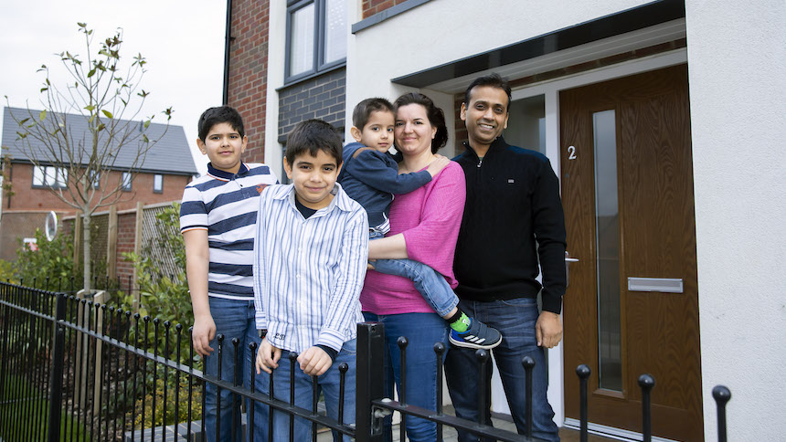 Joelle, Bhupinder and their family