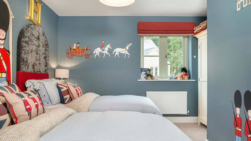 High Trees boys bedroom room (CALA Homes)