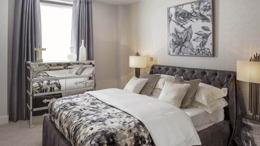 Kilburn Quarter master bedroom (Network Homes)