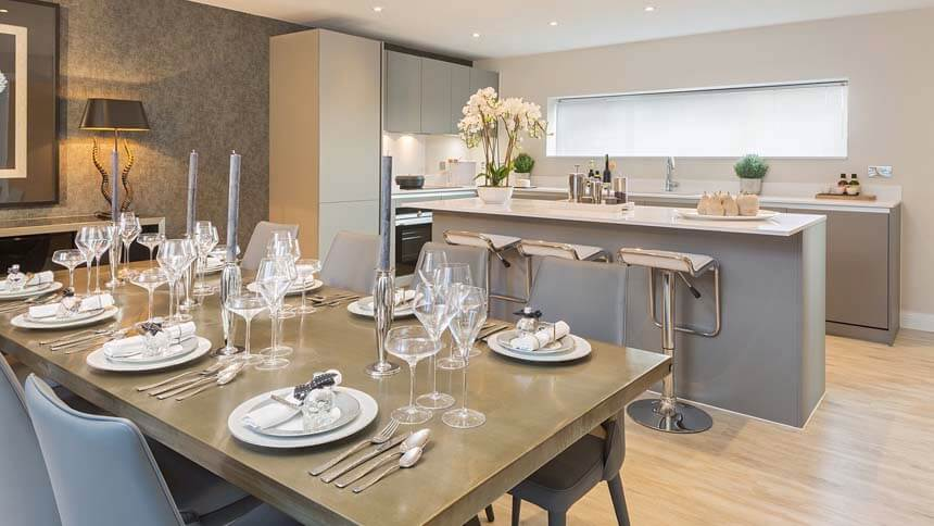 Show home room by room kingfisher great kneighton for Show home kitchen ideas