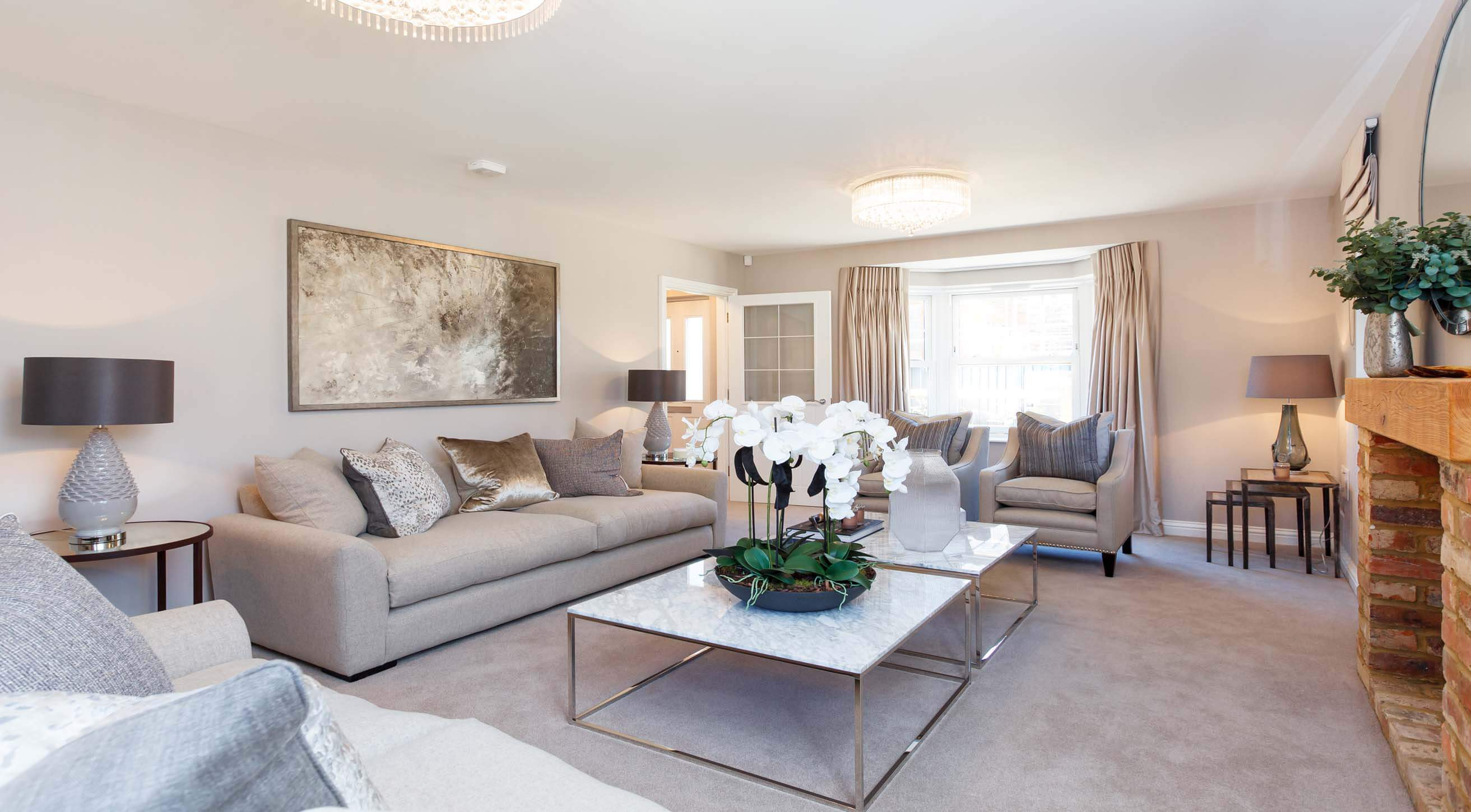 Show home room by room lavender fields isfield for Show home living room designs