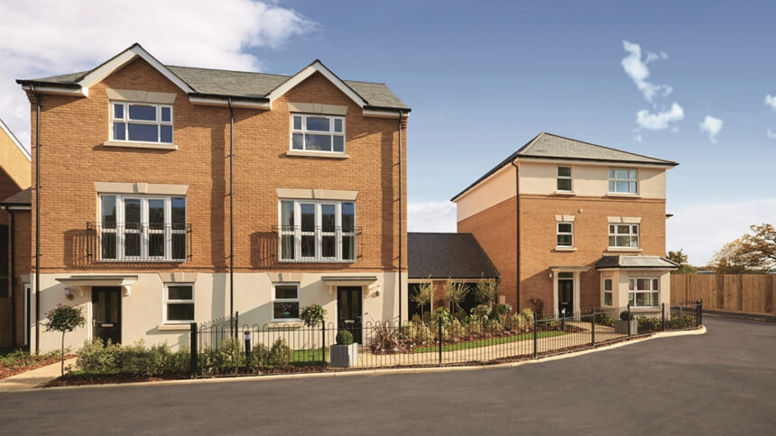 Oaklands development from Linden Homes
