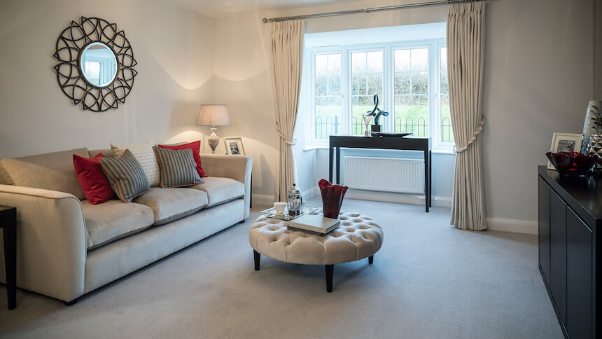 Lounge at St Agnes Place show home
