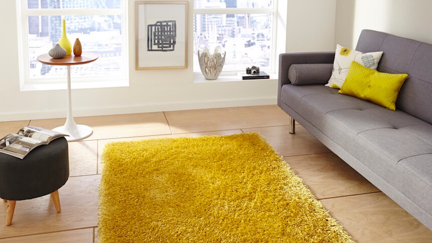 Monte Carlo rug in yellow