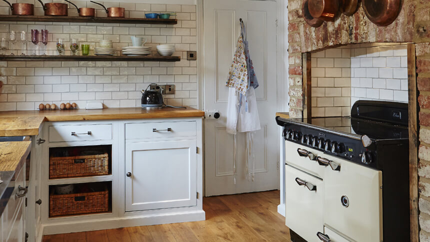 Traditional kitchen filled with recycled timber