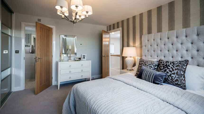 Master bedroom at St Agnes Place show home