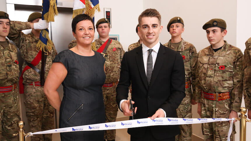 Olympian Max Whitlock opening the show home