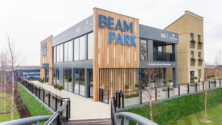 Beam Park marketing suite (Countryside)