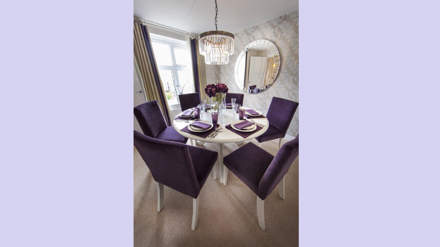 Chestnut show home dining room