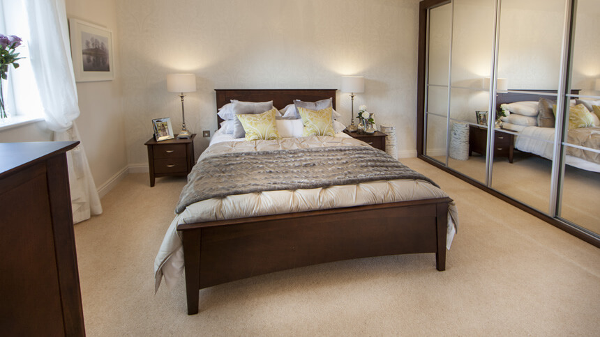 Chestnut show home master bedroom