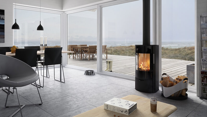 Modern Robeys Rina 4kw wood burning stove